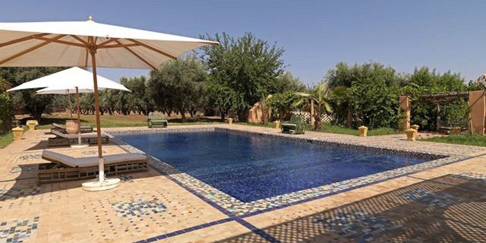 The swimming pool is nestled between the farmhouse garden and the olive grove with ample room for sunbathing.
